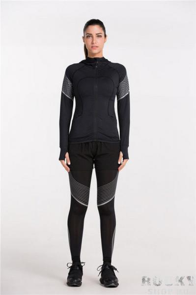 Женская тренировочная футболка на молнии Vansydical FBF70106