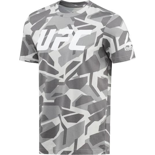 Спортивная футболка Reebok UFC ReebokФутболки<br>Спортивная футболка Reebok UFC Ultimate Fan. Официальная футболка UFC и Reebok. 100% хлопок, одинарное джерси. Облегающий крой. Круглый ворот делает эту футболку настоящей находкой как для тренировок, так и для повседневной жизни. Уход: машинная стирка в холодной воде, деликатный отжим, не отбеливать.<br><br>Размер INT: XL