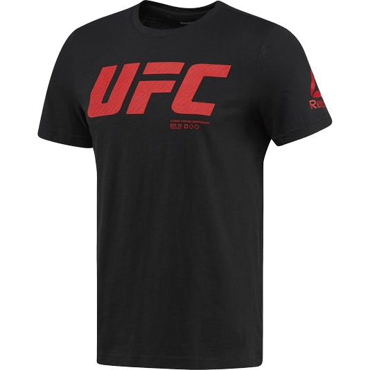 Спортивная футболка Reebok UFC ReebokФутболки<br>Спортивная футболка Reebok UFC. Официальная футболка UFC и Reebok. Уход: машинная стирка в холодной воде, деликатный отжим, не отбеливать.<br><br>Размер INT: XL