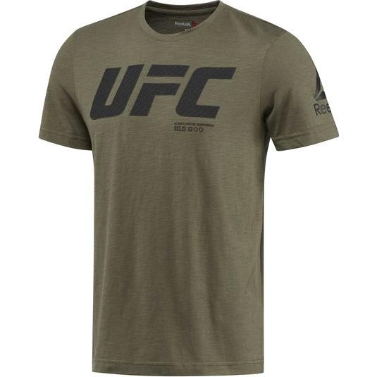 Спортивная футболка Reebok UFC ReebokФутболки<br>Спортивная футболка Reebok UFC. Официальная футболка UFC и Reebok. Уход: машинная стирка в холодной воде, деликатный отжим, не отбеливать.<br><br>Размер INT: M