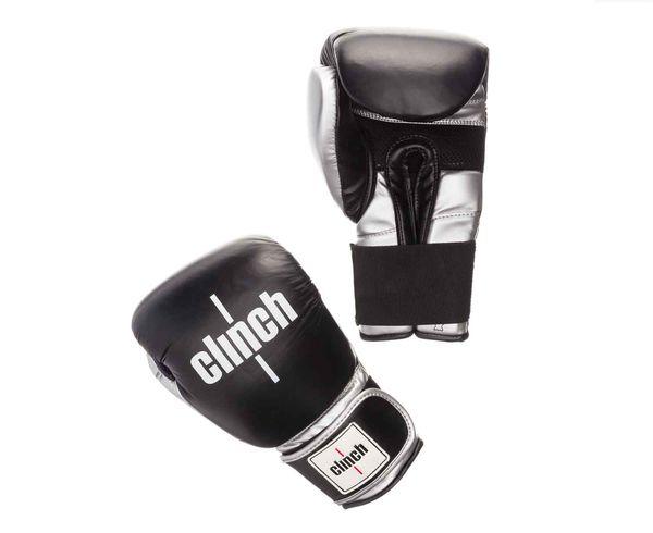 Перчатки боксерские Clinch Prime черно-серебристые, 14 унций Clinch GearБоксерские перчатки<br>Боксереские перчатки Clinch Prime. Хорошо зарекомендовавшие себя перчатки Clinch Punch обрели новый материал! Теперь перчатки дополнены натуральной кожей. Ударная кожаная часть. Многослойный пенный наполнитель обеспечивает улучшенную анатомическую посадку, комфорт и высокий уровень защиты. Дополнительная сетка на ладони позволяет быстро сохнуть и при этом циркулирует воздух внутри. Широкая резинка позволяет оптимально фиксировать запястье. Цвет: Черно/серыйРазмер: 10-16 oz.<br><br>Размер: черно-серебристые