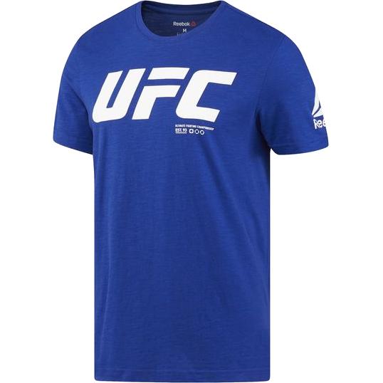 Спортивная футболка Reebok UFC ReebokФутболки<br>Спортивная футболка Reebok UFC. Официальная футболка UFC и Reebok. Уход: машинная стирка в холодной воде, деликатный отжим, не отбеливать.<br><br>Размер INT: L