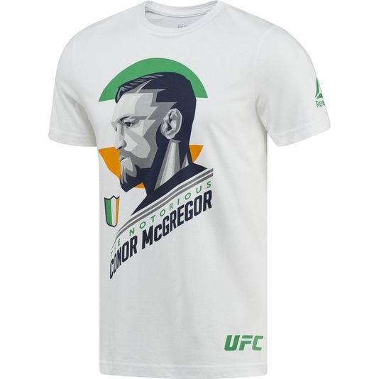 Футболка Reebok McGregor ReebokФутболки<br>Футболка Reebok UFC Conor McGregor. Официальная футболка Конора The Notorious Макгрегора от Reebok. Состав: хлопок. Уход: машинная стирка в холодной воде, деликатный отжим, не отбеливать.<br><br>Размер INT: L