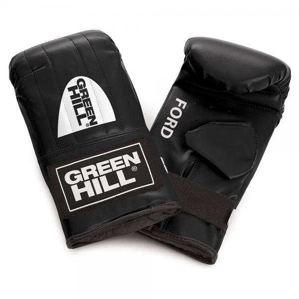 """Перчатки снарядные Green Hill FORD, S Green HillCнарядные перчатки<br>Снарядные перчатки """"Ford"""" («блинчики»). Недорогие снарядные перчатки для отработки ударов. Подойдут для домашнего использования и для начинающих спортсменов. Выполнены из иск. кожи, манжет на резинке. Размеры: Замерьте обхват ладони сантиметровой лентой в наиболее широком месте, исключив при этом большой палец руки Размер: S M L XL Обхват ладони, см. 17-18 18-19 19-22 23-27<br> Жёсткое запястье<br> Необрезанный большой палец<br> Фиксация на резинке<br> Высокая жёсткость внутреннего материала<br> Синтетическая кожа высокого качества<br><br>Цвет: Красный"""