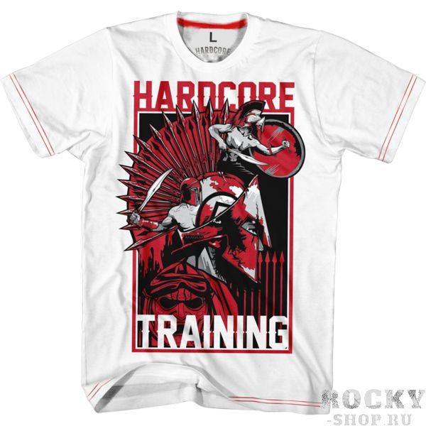 Футболка Hardcore Training Spartans Hardcore TrainingФутболки<br>Футболка Hardcore Training Spartans. В связи с началом учебного года мы продолжаем и повторяем уроки истории. 300 геройских парней из Спарты , пример продуманной тактики и замечательного героизма. Очередная вариация от НСТ на спартанскую тему, носи и получай пятерки. Уход: машинная стирка в холодной воде, деликатный отжим, не отбеливать. Состав: 92% хлопок, 8% лайкра.<br><br>Размер INT: XXXL