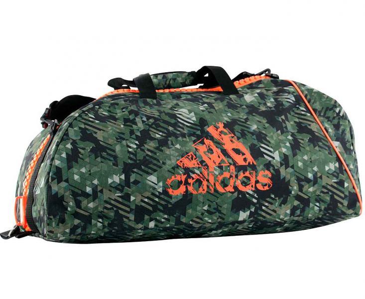 Купить Сумка спортивная Combat Camo Bag M камуфляжно-оранжевая Adidas (арт. 19432)