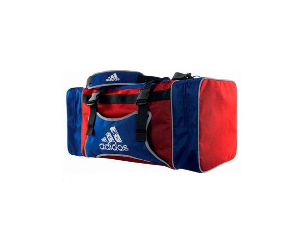 Купить Сумка спортивная TKD Body Protector Team Bag L красно-синяя Adidas (арт. 19435)
