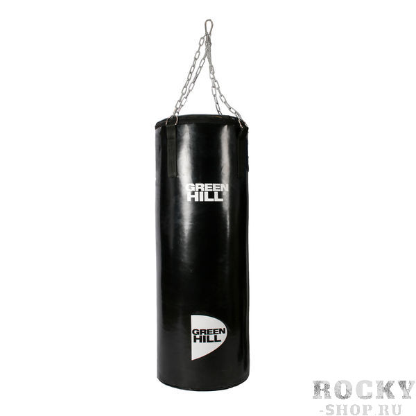 Профессиональный боксерский мешок Green Hill, 57 кг, 120*45 см Green HillСнаряды для бокса<br>Боксерский мешок GREEN HILL. Выполнен из виниловой(тентовой) ткани. Подвес на цепи, прикрепленной к пришитым стропам мешка. Особенная капсульная технология набивки мешка придает ему правильную форму и балансировку веса и плотности. - Материал мешка - винил- Капсульная технология набивки<br>Такими мешками оборудована база соборной РФ по боксу в Чехове. <br><br>Капсульная технология набивки позволяет сохрнаить мешок в идеальном состоянии на протяжении ДЕСЯТКОВ лет при самом интенсивном использовании.<br>