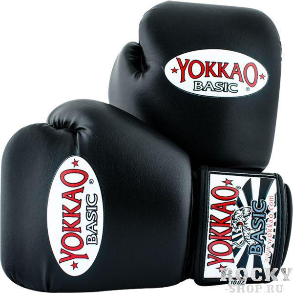 Боксерские перчатки Yokkao Basic, 16 oz YokkaoБоксерские перчатки<br>Боксерские перчатки Yokkao Basic. Yokkao - один из лидеров по производству экипировки для тайского бокса. Данные перчатки подойдут и для работы на мешках, и на лапах, и для работы в самых жестких спаррингах. Внутри перчатки наполнены пеной, которая хорошо гасит силу ударов и не дает рукам травмироваться. Большой палец на перчатки зафиксирован. Данные перчатки для бокса выполнены из синтетической кожи самого высокого качества. Запястье надёжно фиксируется манжетой. Сделаны вручную в Таиланде.<br>