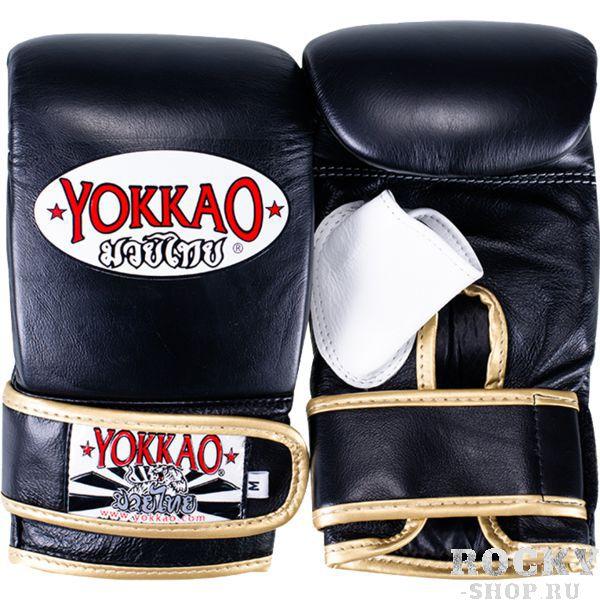 Снарядные перчатки Yokkao YokkaoCнарядные перчатки<br>Снарядные перчатки Yokkao. Yokkao - один из лидеров по производству экипировки для тайского бокса. Классические боксерские перчатки-битки. Перчатки очень удобно сидят. Усиленная отстрочка швов. Данные перчатки для бокса выполнены из кожи КРС. Запястье фиксируется манжетой. Сделаны вручную в Таиланде.<br><br>Размер: XL
