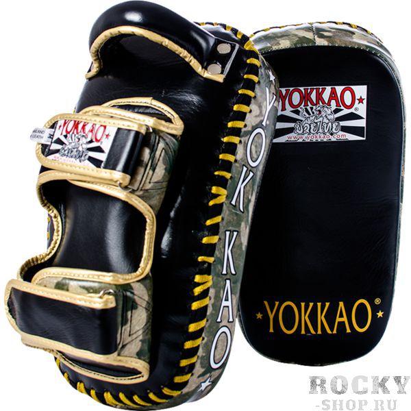 Тайпэды Yokkao YokkaoЛапы и макивары<br>Профессиональные тайпэды Yokkao. Продукция высочайшего! Внешняя обивка тайпэдов- натуральная кожа самого высокого уровня! Тайпэды отлично сидят на руках, удерживаясь на предплечье благодаря достаточно широким ремням-застежкам. Внутренний наполнитель- пена, поглощающая энергию удара. За счёт этой пены не будут страдать ни руки, ни ноги тренирующегося бойца, так же будет обеспечена надежная защита рук и всего опорно-двигательного аппарата тренера, держащего пэды. Тайпэды Yokkao делаются изогнутой формой для наилучшего принятия удара. Продаются парой. Вес: 3. 2 кг (пара).<br>