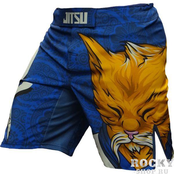 ММА шорты Jitsu Zen-cat JitsuШорты ММА<br>Шорты Jitsu Zen-cat. Данные шорты отлично подойдут для работы в партере и в стойке, для занятий мма, грепплингом, тайским боксом, кроссфитом и работой с железом. Для комфортного поединка предусмотрены боковые разрезы на бедрах. Удерживаются шорты с помощью липучек на фронтальной части шорт, резинке, расположенной по диаметру пояса, а так же благодаря шнурку, спрятанному во внутренней части пояса. Рисунок на мма шортах Jitsu полностью сублимирован в ткань. Состав: 100% полиэстер. Уход: машинная стирка в холодной воде, не отбеливать.<br><br>Размер INT: XL