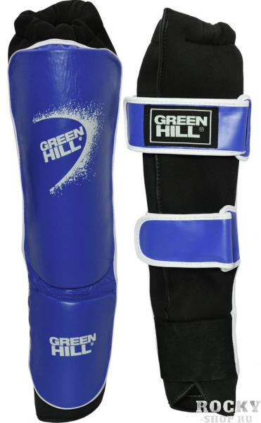 Защита голень+стопа shell одобрена фкр, Синяя Green HillЭкипировка для кикбоксинга<br>Защита голень+стопа SHELL предназначена для соревнований по кикбоксингу. Защита имеет эластичный чулок для плотной фиксации защиты на ноге, а так же ремни на липучке, для дополнительной фиксации. Материал защиты 100% полиуретан, внутренняя сторона стретч полиэстер и микроволокно. Модель одобрена Федерацией Кикбоксинга России. - Голень выполнена чулком- Ремни для лучшей фиксации- 100% полиуретан- Одобрено Федерацией кикбоксинга России<br><br>Размер: L