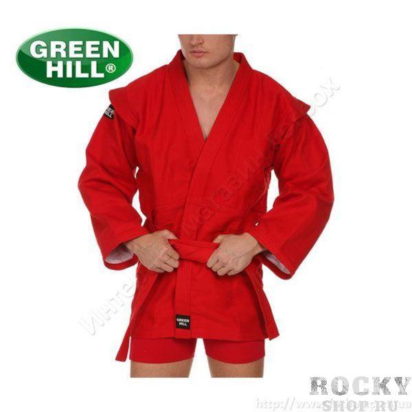 Куртка для САМБО GREEN HILL FIAS Approved (Лицензия FIAS), Красная Green HillЭкипировка для Самбо<br>Куртка для самбо GREEN HILL плотностью 550г/м2 из 100% хлопка предназначена для тренировок и соревнований. Куртка выполнена согласно требованиям Международной Федерации Самбо (FIAS) и допускается к соревнованиям любого уровня. - Куртка самбо для тренировок и соревнований любого уровня- Плотность 550г/м2- Материал 100% хлопок- Без подкладки- Плетение елочкой- Одобрена Международной Федерацией Самбо (FIAS)<br><br>Размер: 160 см
