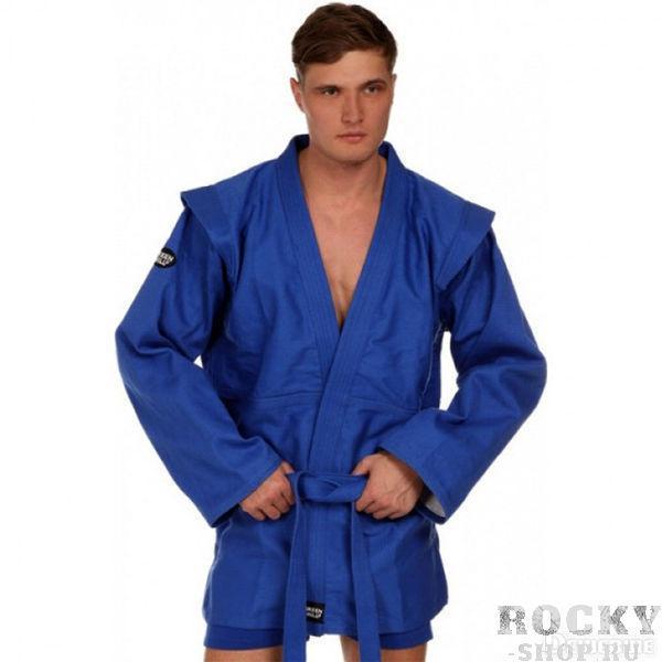 Куртка для самбо Green Hill fias approved (лицензия fias), Синяя Green HillЭкипировка для Самбо<br>Куртка для самбо GREEN HILL плотностью 550г/м2 из 100% хлопка предназначена для тренировок и соревнований. Куртка выполнена согласно требованиям Международной Федерации Самбо (FIAS) и допускается к соревнованиям любого уровня. - Куртка самбо для тренировок и соревнований любого уровня- Плотность 550г/м2- Материал 100% хлопок- Без подкладки- Плетение елочкой- Одобрена Международной Федерацией Самбо (FIAS)<br><br>Размер: 170 см