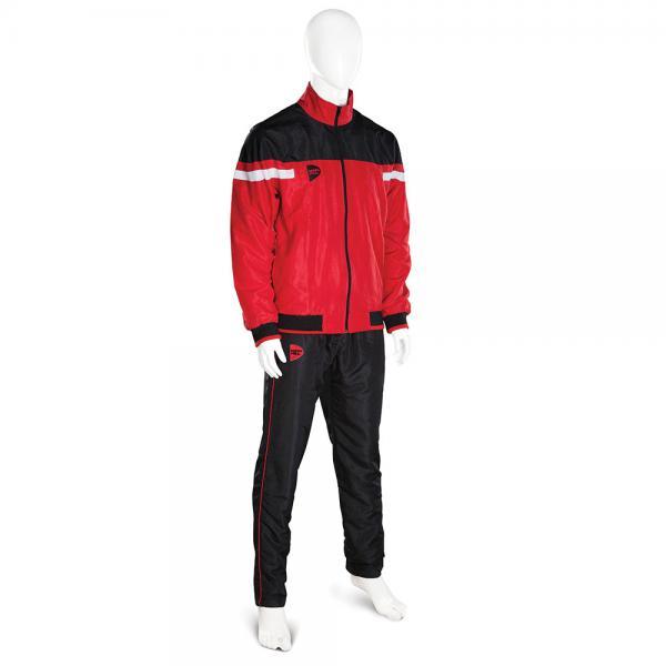 Спортивный костюм Green Hill MICRO, Красный Green HillСпортивные костюмы<br>Спортивный костюм GREEN HILL MICRO выполнен из уникальной комбинации современного технологичного материала MICRO TWILL плотностью 120г/м2 с подкладкой из полиэстера. Куртка с эластичными манжетами и нижним краем имеет застёжку на молнию, воротник-стойку и два наружних кармана. Штаны на эластичной резинке со шнуровкой и двумя карманами. Спортивный костюм MICRO может использоваться и как тренировочный и как парадный.<br><br>Размер INT: S