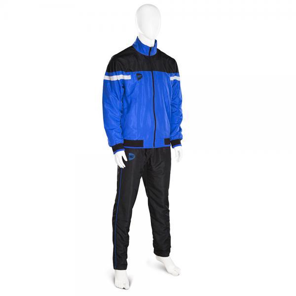 Спортивный костюм Green Hill MICRO, Синий Green HillСпортивные костюмы<br>Спортивный костюм GREEN HILL MICRO выполнен из уникальной комбинации современного технологичного материала MICRO TWILL плотностью 120г/м2 с подкладкой из полиэстера. Куртка с эластичными манжетами и нижним краем имеет застёжку на молнию, воротник-стойку и два наружных кармана. Штаны на эластичной резинке со шнуровкой и двумя карманами. Спортивный костюм MICRO может использоваться и как тренировочный и как парадный.<br><br>Размер INT: XL