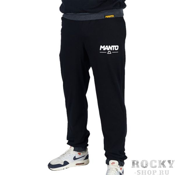 Штаны Manto Combo Light Black MantoСпортивные штаны и шорты<br>Спортивные штаны Manto Combo Light Black. Отлично подойдут и для тренировок, и в качестве прогулочного варианта. На бедрах штаны удерживаются с помощью резинки и шнурка, спрятанного в пояс. Манжеты в нижней части брюк оснащены резинкой. Присутствуют два боковых и один задний карманы. Спортивные штаны Manto очень мягкие, приятные на ощупь. Уход: Машинная стирка в холодной воде, деликатный отжим, не отбеливать! состав: 100% хлопок.<br><br>Размер INT: XL
