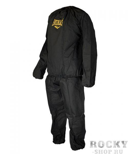 Костюм-сауна Everlast Deluxe EverlastКостюмы-сауны<br>Костюм-сауна EVERLAST Deluxe EVA Sauna Suit направлен для тех людей, кто хочет сбросить вес в кратчайшие сроки. Используя известный с давних времен парниковый эффект, он намного усиливает потоотделение во в ходе активных занятий спортом, заставляя тело избавляться от лишних жиров. Костюм состоит из двух элементов (куртка и брюки), снабженных эластичными резинками на рукавах, талии и лодыжках. Помните:Костюм безупречно годится для занятий фитнесом или аэробикой, однако не направлен для высоких физических нагрузок (к примеру, для тяжелой атлетики)Для полноценного эффекта, костюм необходимо использовать при регулярных физических нагрузках<br><br>Размер INT: L/XL