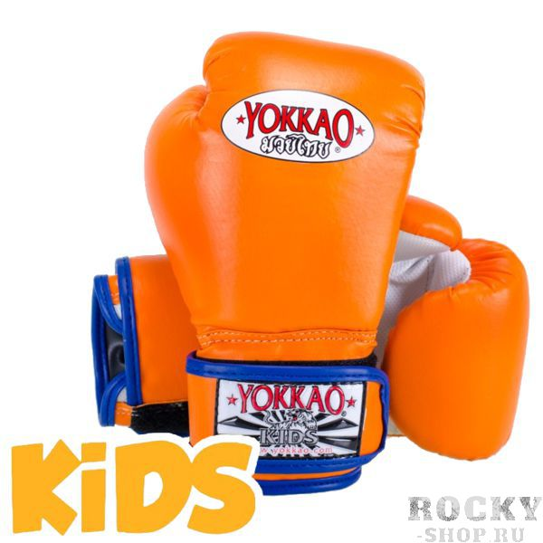 Детские перчатки Yokkao, XS YokkaoБоксерские перчатки<br>Детские боксерские перчатки Yokkao. Yokkao - один из лидеров по производству экипировки для тайского бокса. Данные перчатки подойдут и для работы на мешках, и на лапах, и для работы в самых жестких спаррингах. Внутри перчатки наполнены пеной, которая хорошо гасит силу ударов и не дает рукам травмироваться. Большой палец на перчатки зафиксирован. Данные перчатки для бокса выполнены из синтетической кожи самого высокого качества. Запястье надёжно фиксируется манжетой.<br>