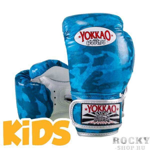 Детские перчатки Yokkao, S YokkaoБоксерские перчатки<br>Детские боксерские перчатки Yokkao. Yokkao - один из лидеров по производству экипировки для тайского бокса. Данные перчатки подойдут и для работы на мешках, и на лапах, и для работы в самых жестких спаррингах. Внутри перчатки наполнены пеной, которая хорошо гасит силу ударов и не дает рукам травмироваться. Большой палец на перчатки зафиксирован. Данные перчатки для бокса выполнены из синтетической кожи самого высокого качества. Запястье надёжно фиксируется манжетой. Сделаны вручную в Таиланде.<br>