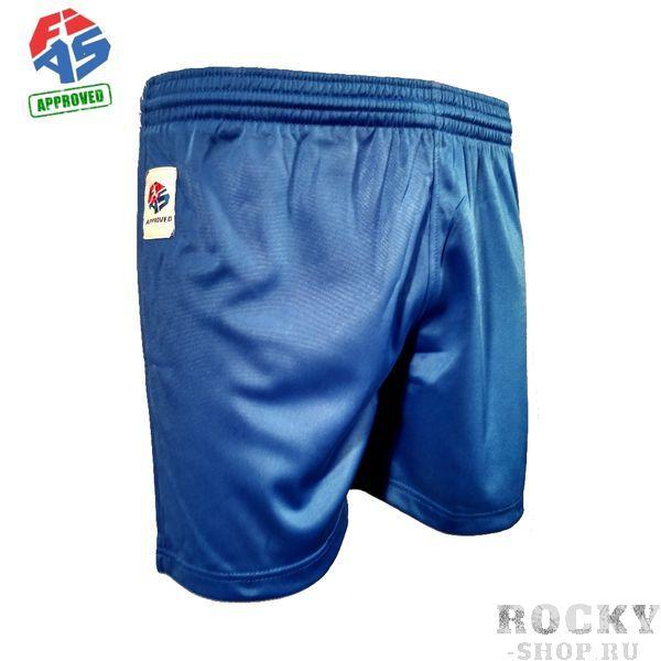 Шорты самбо Green Hill fias approved (лицензия fias), Синие  Green HillЭкипировка для Самбо<br>Шорты для самбо, одобренные Международной Федерацией Самбо (FIAS). Состав 100% полиэстер. Подходят для тренировок и соревнований любого уровня. Используются в комплекте с курткой самбо.<br><br>Размер: 38