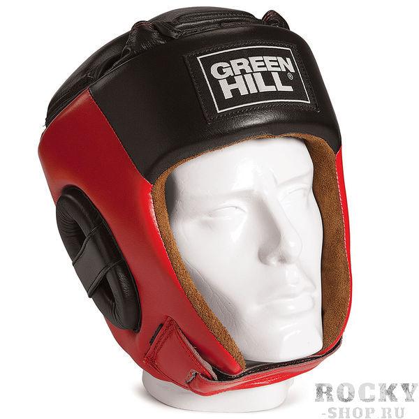 Шлем Green Hill PRIDE, Красный Green HillБоксерские шлемы<br>Соревновательный шлем PRIDE является конструктивной новинкой на рынке единоборств. Особенность конструкции в том, что крышка шлема сочетает в себе и шнуровку и крестообразный пенный модуль как в шлемах BEST и PRO, обеспечивая тем самым защиту головы от ударов сверху с максимально гибкую фиксацию за счёт шнуровки. Шлем будет интересен в первую очередь кикбоксерам. Внешняя сторона шлема выполнена из натуральной кожи, внутренняя сторона из замши- Соревновательный шлем- Комбинация шнуровки и пенного модуля в крышке шлема- Натуральная кожа- Внутренняя сторона из замши<br><br>Размер: S
