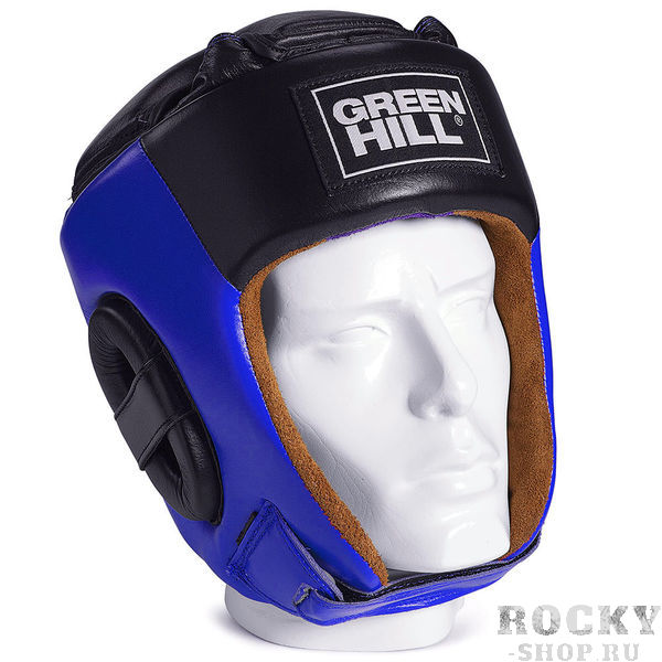 Шлем Green Hill pride, Синий Green HillБоксерские шлемы<br>Соревновательный шлем PRIDE является конструктивной новинкой на рынке единоборств. Особенность конструкции в том, что крышка шлема сочетает в себе и шнуровку и крестообразный пенный модуль как в шлемах BEST и PRO, обеспечивая тем самым защиту головы от ударов сверху с максимально гибкую фиксацию за счёт шнуровки. Шлем будет интересен в первую очередь кикбоксерам. Внешняя сторона шлема выполнена из натуральной кожи, внутренняя сторона из замши- Соревновательный шлем- Комбинация шнуровки и пенного модуля в крышке шлема- Натуральная кожа- Внутренняя сторона из замши<br><br>Размер: L