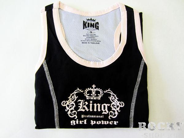 Женский топик, Черный KingМайки<br>Материал – 100% хлопок<br> Отлично годится для занятий спортом и соревнований<br><br>Размер INT: Размер M