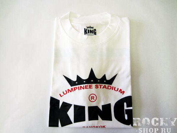 Футболка, Белый KingФутболки<br>Материал – 100% хлопок<br> Идеально годится для тренировок<br> Короткий рукав<br><br>Размер INT: Размер M