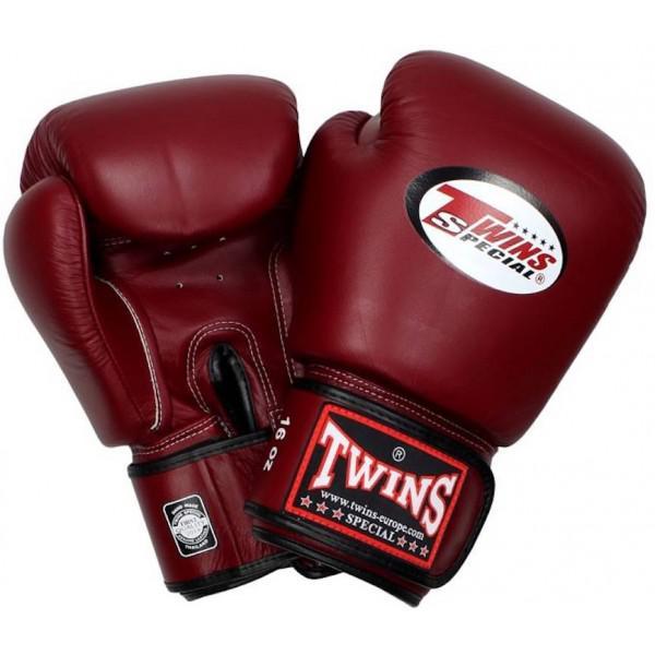 Купить Перчатки боксерские Twins BGVL-3 Maroon Red Special 10 унций (арт. 20431)