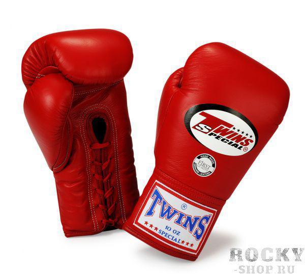 Перчатки боксерские соревновательные на шнурках, 10 унций Twins SpecialБоксерские перчатки<br>Перчатки боксерские соревновательные на шнурках от Twins Special. <br> Материал – натуральная кожа высшего качества<br> Ручная работа<br> Отличная фиксация благодаря шнуровке, которая идет от начала ладони и до запястья<br> Конструкция перчаток обеспечивает полное сжимание кулака<br> Идеальное соотношение цена-качество<br> Внутренний материал из многослойной высококачественной пены<br><br>Цвет: Красный