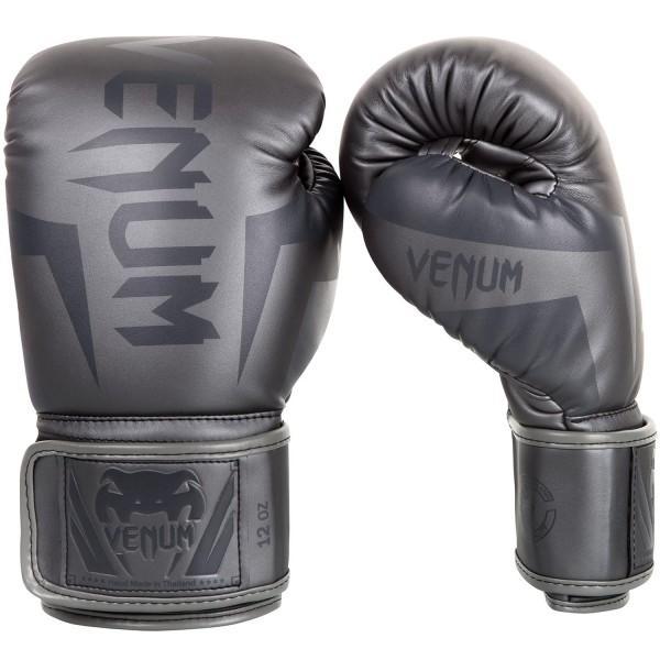 Купить Перчатки боксерские Venum Elite Grey/Grey 14 унций (арт. 20522)