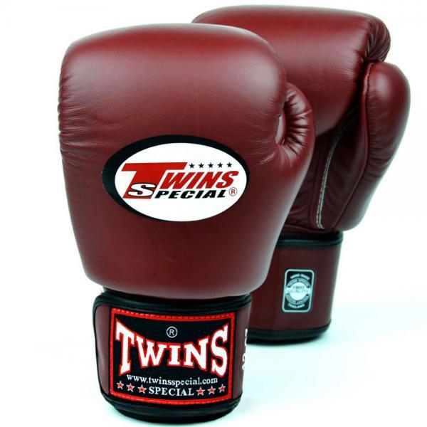 Купить Перчатки боксерские Twins BGVL-3 Maroon Red Special 16 унций (арт. 20533)