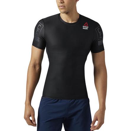 Рашгард Reebok CrossFit ReebokРашгарды<br>Компрессионная футболка Reebok CrossFit. Идеально для высокоинтенсивных тренировок, обеспечивая поддержку мышц и вентиляцию. Крой: Компрессионный - футболка плотно прилегает к телу, обеспечивая максимальную поддержку мышц. Технология Speedwick отводит влагу с поверхности тела, оставляя ощущение сухости и комфорта. Цельнокроеная задняя часть рукавов для свободы движений и лучшей посадки. Материал: 73% полиэстер / 27% эластан, трикотаж для эластичности. Сетчатая вставка на спине для вентиляции. Антибактериальная обработка предотвращает появление неприятного запаха и сохраняет свежесть.<br><br>Размер INT: S
