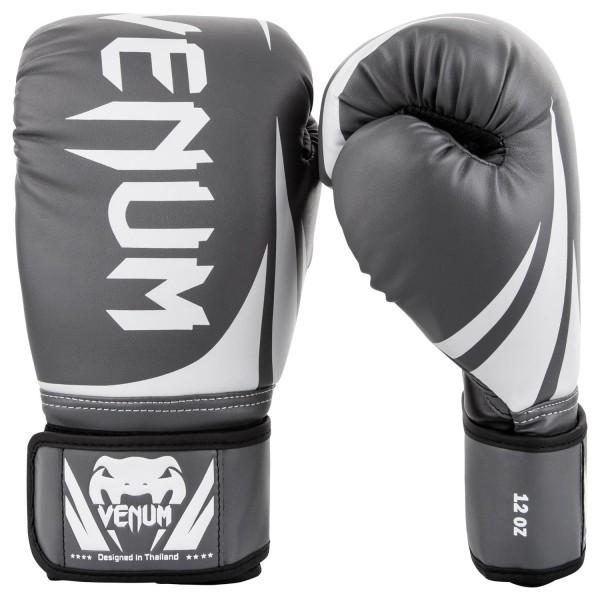 Купить Перчатки боксерские Venum Challenger 2.0 Grey/White/Black 12 унций (арт. 20652)