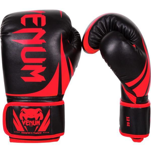 Купить Перчатки боксерские Venum Challenger 2.0 Neo Black/Red 14 oz (арт. 20677)