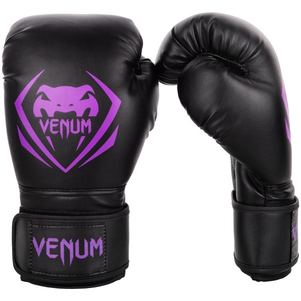 Перчатки боксерские Venum Contender Black/Purple, 14 унций VenumБоксерские перчатки<br>Перчатки боксерские Venum Contender - Black/Purple выдержат любой мощный удар, будь то джеб, кросс, хук или апперкот. Сделаны из 100% синтетической кожи с высоким сроком службы. Их изогнутая анатомическая форма обеспечивает гибкость и комфорт. Многослойный пенный наполнитель с легкостью поглащает все удары. Большая надежная застежка на липучке дает надежную фиксацию запястья, минимизируя риск возникновения травмы на тренировках. Отработка, спарринг, работа на мешках или лапах - боксерские перчаткиVenum Contender непременно приведут Вас к успеху!Особенности:- 100% синтетическая кожа с высоким сроком службы- многослойная пена для идеального поглощения ударов- широкая застежка на липучке для надежной фиксации запястья- большой палец полностью закреплен, что не дает его выбить<br>