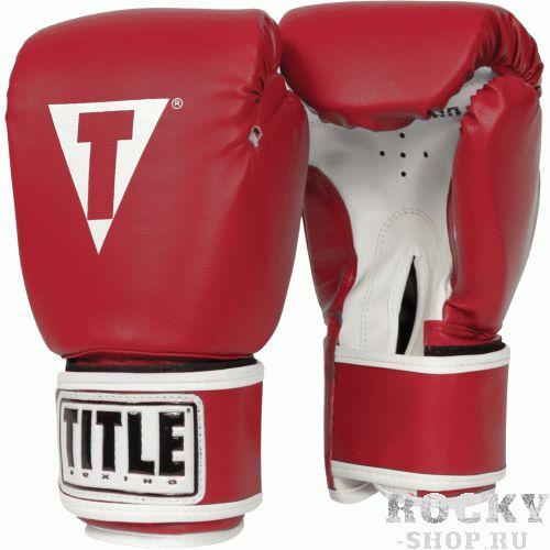 Купить Перчатки тренировочные TITLE PRO STYLE RED 14oz (арт. 20798)