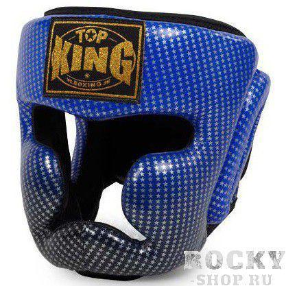Шлем Super Star , l Top KingБоксерские шлемы<br>Шлем Top King Super Star синего цвета имеет уникальную внутреннюю структуру из многослойного вспененного материала, который эффективно гасит и распределяет удары по всей площади шлема. Изготовлен из натуральной кожи.<br>