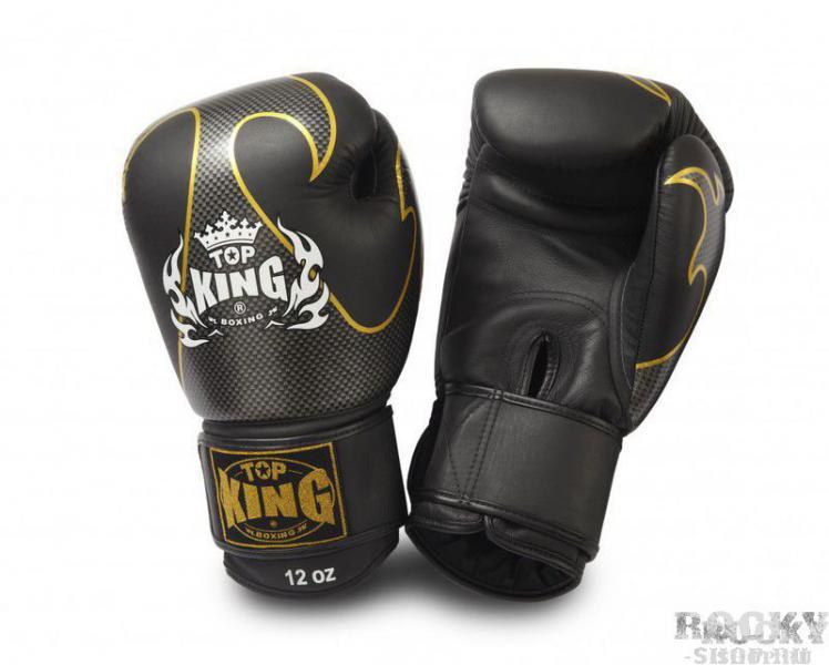 Боксерские перчатки Empower Creativity , 18 oz Top KingБоксерские перчатки<br>Боксерские перчатки Top King Empower Creativity в оригинальном двухцветном решении обладают хорошими техническими показателями и нацелены на обеспечение максимального комфорта в течение продолжительного срока службы. Для изготовления данной модели используется только натуральная кожа. Перчатки удобно сидят на руке и не съезжают благодаря упругой застежке. Владельцы данной модели ценят в первую очередь безопасность своих рук, и в полной мере могут насладиться ощущением комфорта, придаваемого обтекаемой формой перчаток Empower Creativity.<br><br>Цвет: черный/золото
