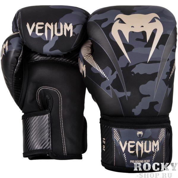 Купить Боксерские перчатки Venum Impact Dark Camo 8 oz (арт. 20883)