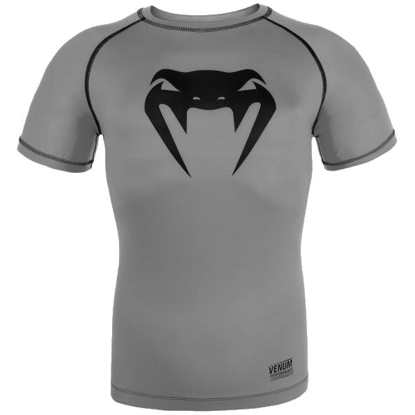 Рашгард Venum Contender 3 VenumРашгарды<br>Компрессионная футболка (рашгард) Venum Contender 3. Отличное сочетание цена/качество. материал прекрасно тянется, рашгард никогда не потеряет свою начальную форму. Короткий рукав рашгарда обеспечит масксимальную свободу рукам во время тренировок. Рашгард отлично подойдет для тренировок такими видами спорта как: кроссфит, бокс, муай тай, работа с железом и т. д. .<br><br>Размер INT: S