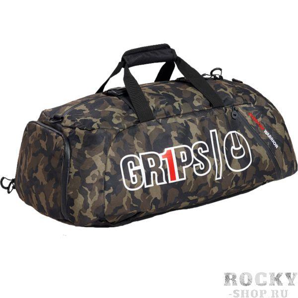 Спортивная сумка-рюкзак Grips Woodland Camo Grips AthleticsСпортивные сумки и рюкзаки<br>Спортивная сумка-рюкзак Grips Woodland Camo. Большая стильная сумка от Grips. Рюкзак выполнен из влагостойкого прочного полиэстера с антимикробной пропиткой. Состоит сумка из основного и вспомогательных карманов. Присутствуют встроенные ручки и ремень для ношения сумки через плечо. Габариты: 70x24x36 см.<br>
