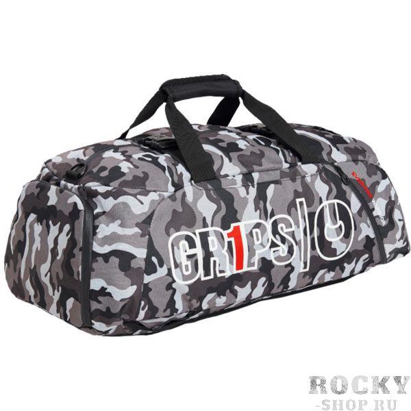 Спортивная сумка-рюкзак Grips Night Camo Grips AthleticsСпортивные сумки и рюкзаки<br>Спортивная сумка-рюкзак Grips Night Camo. Большая стильная сумка от Grips. Рюкзак выполнен из влагостойкого прочного полиэстера с антимикробной пропиткой. Состоит сумка из основного и вспомогательных карманов. Присутствуют встроенные ручки и ремень для ношения сумки через плечо. Габариты: 70x24x36 см.<br>
