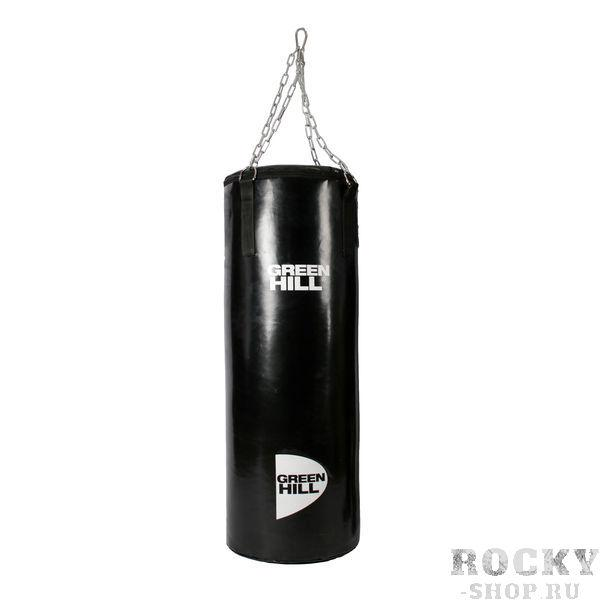 Профессиональный боксерский мешок Green Hill, 50 кг, 120*40 см Green HillСнаряды для бокса<br>Боксерский мешок GREEN HILL. Выполнен из виниловой(тентовой) ткани. Подвес на цепи, прикрепленной к пришитым стропам мешка. Особенная капсульная технология набивки мешка придает ему правильную форму и балансировку веса и плотности. - Материал мешка - винил- Капсульная технология набивки<br>Такими мешками оборудована база соборной РФ по боксу в Чехове. <br><br>Капсульная технология набивки позволяет сохранить мешок в идеальном состоянии на протяжении ДЕСЯТКОВ лет при самом интенсивном использовании.<br>