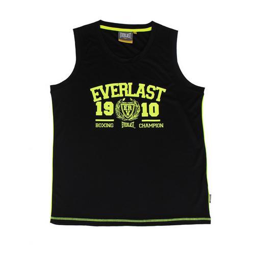 Спортивная майка Everlast Sports Brights, Черная EverlastМайки<br>Легкая и удобная майка Everlast для тренировок и повседневной носки. Логотип Everlast 1910 на груди. Состав: 100% Полиэстер. Цвет: Синий.<br><br>Размер INT: S