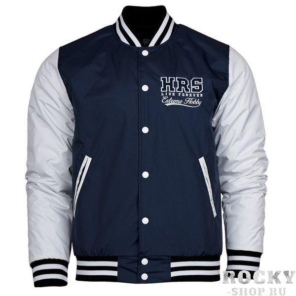 Куртка HRS Extreme Hobby Extreme HobbyКуртки / ветровки<br>Осенне-зимняя бейсбольная куртка HRS Extreme Hobby. Короткий спортивный крой куртки отлично подчеркивает характер владельца. Куртка оснащена двумя боковыми карманами, а также удобным внутренним карманом на липучке. Материал: 100% полиэстер<br>КОЛЛЕКЦИЯ: 58 BASIC<br>ЦВЕТ: СИНИЙ<br>МАТЕРИАЛ: 100% ПОЛИЭСТЕР<br><br>Размер INT: L