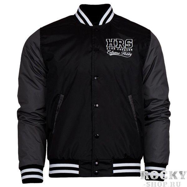 Куртка HRS Extreme Hobby, Черная Extreme HobbyКуртки / ветровки<br>Осенне-зимняя бейсбольная куртка HRS Extreme Hobby. Короткий спортивный крой куртки отлично подчеркивает характер владельца. Куртка оснащена двумя боковыми карманами, а также удобным внутренним карманом на липучке. Материал: 100% полиэстер<br>КОЛЛЕКЦИЯ: 58 BASIC<br>ЦВЕТ: ЧЕРНЫЙ<br>МАТЕРИАЛ: 100% ПОЛИЭСТЕР<br><br>Размер INT: S