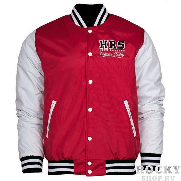 Куртка HRS Extreme Hobby, красная Extreme HobbyКуртки / ветровки<br>Осенне-зимняя бейсбольная куртка HRS Extreme Hobby. Короткий спортивный крой куртки отлично подчеркивает характер владельца. Куртка оснащена двумя боковыми карманами, а также удобным внутренним карманом на липучке. Материал: 100% полиэстер<br>КОЛЛЕКЦИЯ: 58 BASIC<br>ЦВЕТ: КРАСНЫЙ<br>МАТЕРИАЛ: 100% ПОЛИЭСТЕР<br><br>Размер INT: M